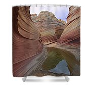 The Wave, A Fragile Standstone Shower Curtain
