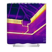 Thermogram Of Steam Pipes Shower Curtain