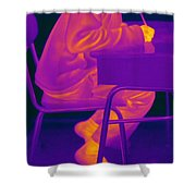 Thermography Shower Curtain