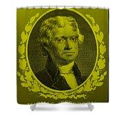 Thomas Jefferson In Yellow Shower Curtain