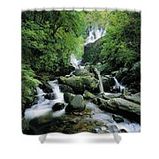 Torc Waterfall, Killarney, Co Kerry Shower Curtain