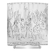 `treaty Of Paris, 1783 Shower Curtain