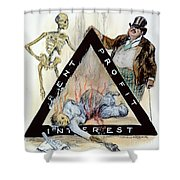 Triangle Factory Fire Shower Curtain