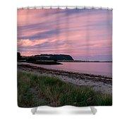 Twilight After A Sunset At A Beach Shower Curtain by Ulrich Schade