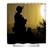 U.s. Army Sergeant Provides Security Shower Curtain