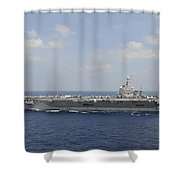 Uss Abraham Lincoln Transits The Indian Shower Curtain