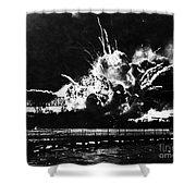 Uss Shaw, Pearl Harbor, December 7, 1941 Shower Curtain