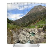 Valle Verzasca - Ticino Shower Curtain