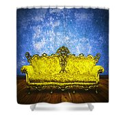 Victorian Sofa In Retro Room Shower Curtain