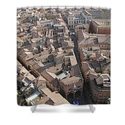 View Of Bologna From The Torre Degli Shower Curtain