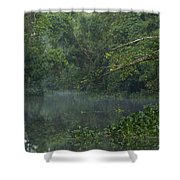 View Of The Menangul River And Rain Shower Curtain