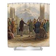 Washington: Inauguration Shower Curtain by Granger