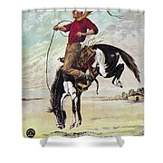 W.f. Cody Poster, C1885 Shower Curtain