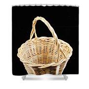 Wicker Basket Shower Curtain