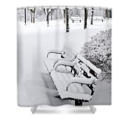 Winter Park Shower Curtain by Elena Elisseeva