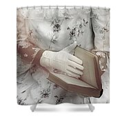 Woman With A Book Shower Curtain