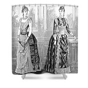 Womens Fashion, 1889. For Licensing Requests Visit Granger.com Shower Curtain