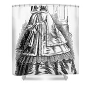 Womens Fashion. C1850s Shower Curtain