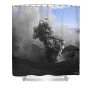 Yasur Eruption, Tanna Island, Vanuatu Shower Curtain