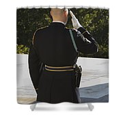 Honor Guard At The Tomb Shower Curtain