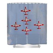 The Snowbirds 431 Air Demonstration Shower Curtain