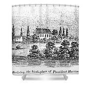 William Henry Harrison Shower Curtain