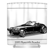 2000 Plymouth Prowler Shower Curtain by Jack Pumphrey