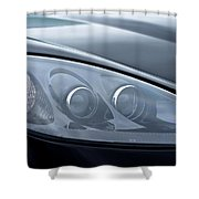 2002 Chevrolet Corvette Head Light Shower Curtain