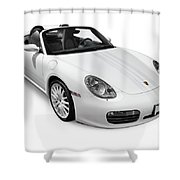 2008 Porsche Boxster S Sports Car Shower Curtain
