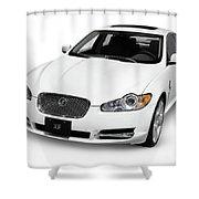 2009 Jaguar Xf Luxury Car Shower Curtain
