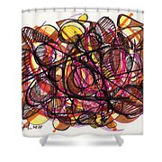 2010 Abstract Drawing 24 Shower Curtain
