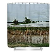 2011 Flood Shower Curtain