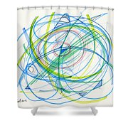 2012 Drawing #11 Shower Curtain