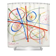 2012 Drawing #13 Shower Curtain
