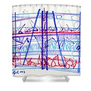 2012 Drawing #16 Shower Curtain