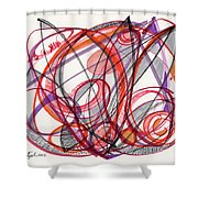 2012 Drawing #3 Shower Curtain