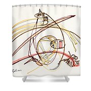 2012 Drawing #7 Shower Curtain