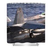 An Fa-18c Hornet Launches Shower Curtain
