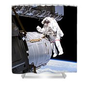 Astronaut Participates Shower Curtain
