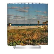 22- Beach Shower Curtain