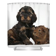 Puppy And Guinea Pig Shower Curtain