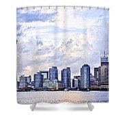 Toronto Skyline Shower Curtain