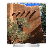 Santa Fe - Adobe Building Shower Curtain