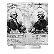Thomas Jefferson (1743-1826) Shower Curtain