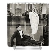 Silent Still: Man & Woman Shower Curtain