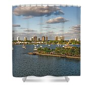 27- Singer Island Skyline Shower Curtain