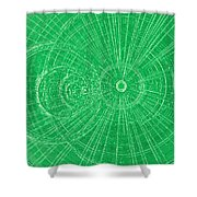 Circle Art Shower Curtain