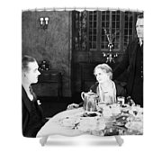 Film Still: Eating & Drinking Shower Curtain by Granger