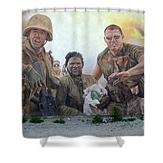 29 Palms Mural 2 Shower Curtain