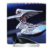 1935 Packard Hood Ornament Shower Curtain